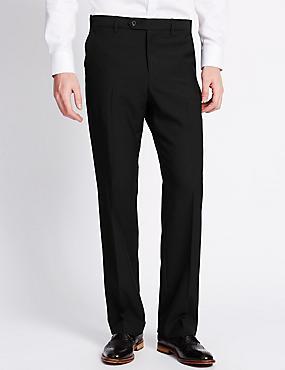 Flat Front Trousers, BLACK, catlanding