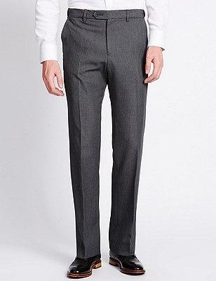 Flat Front Trousers, GREY, catlanding