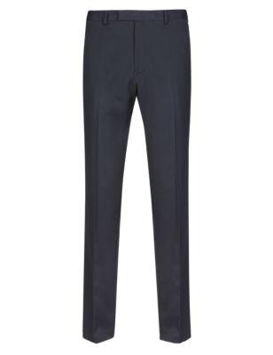 Зауженные брюки без защипов с добавлением вискозы M&S Collection T173345F