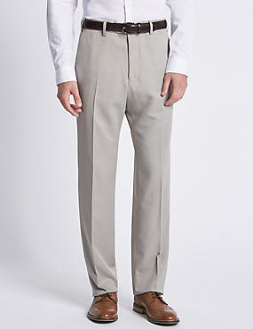 Lightweight Flat Front Trousers