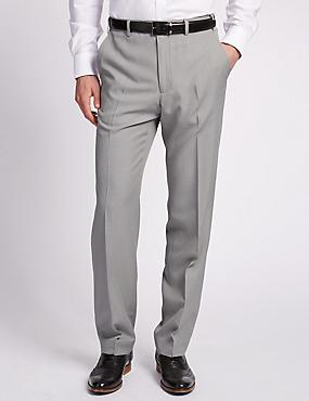 Lightweight Flat Front Trousers, LIGHT GREY, catlanding