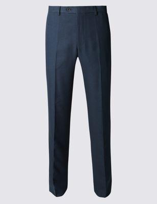Зауженные брюки без защипов с технологиями  Crease resistant и Buttonsafe™ и регулируемым поясом