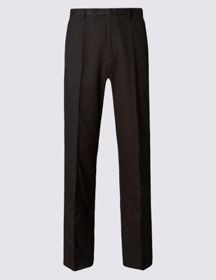 Прямые брюки классического кроя с технологиями Crease Resistant и Buttonsafe™ M&S Collection T173878M