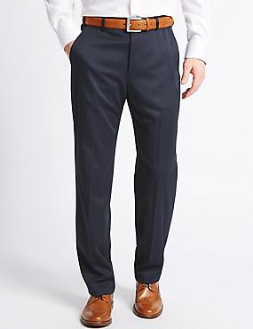 Pantalon sans pinces coupe standard, BLEU MARINE, catlanding