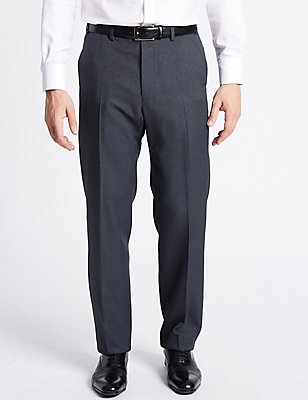 Pantalon sans pinces coupe standard, BLEU MARINE ASSORTI, catlanding