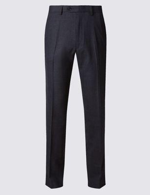 Шерстяные брюки без защипов с технологиями Supercrease™ и Stormwear™ M&S Collection T173898M