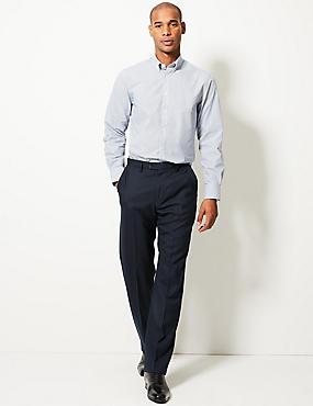 Pantalon avec laine sans pinces, BLEU MARINE, catlanding