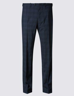 Зауженные брюки Stormwear™ в клетку с добавлением шерсти M&S Collection T173988M
