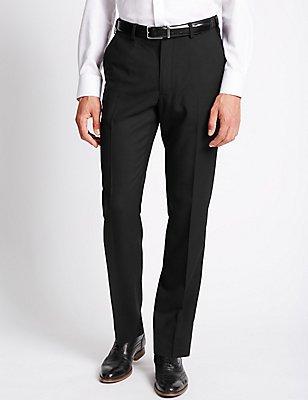 Big & Tall Flat Front Trousers, , catlanding