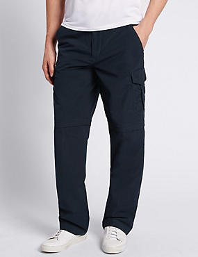Cotton Rich Trekking Trousers, NAVY, catlanding