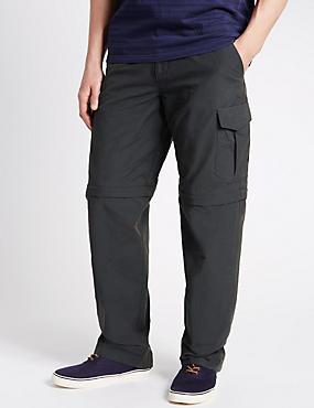 Cotton Rich Trekking Trousers, CHARCOAL, catlanding