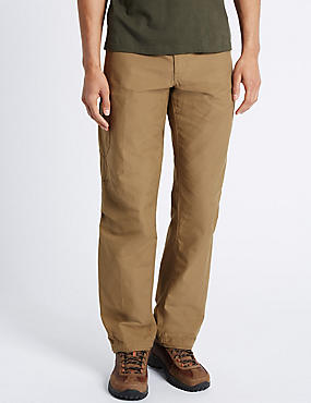 Regular Fit Trekking Trousers, DARK STONE, catlanding