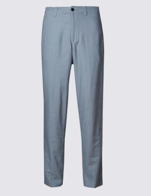 Льняные брюки чинос M&S Collection T175340M