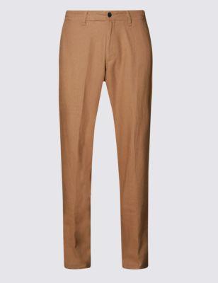 Льняные брюки чинос от Marks & Spencer