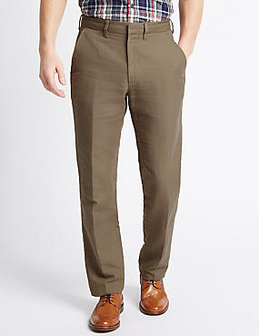 Tailored Fit Linen Rich Trousers, PUTTY, catlanding