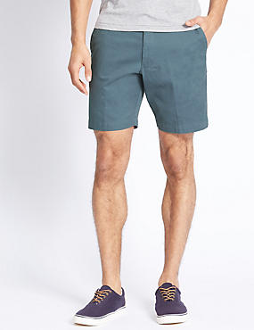 Pure Cotton Shorts, MEDIUM BLUE, catlanding