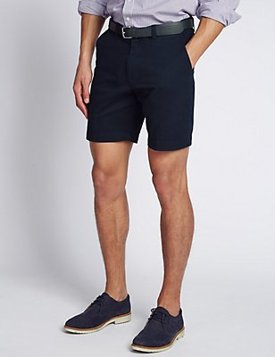 Pure Cotton Chino Shorts, NAVY, catlanding