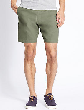 Pure Cotton Shorts, GREEN, catlanding
