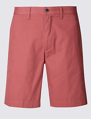 Pure Cotton Chino Shorts, CORAL, catlanding