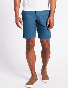 Pure Cotton Shorts, MEDIUM BLUE, catlanding