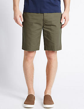 Pure Cotton Shorts, WASHED GREEN, catlanding