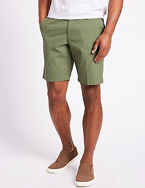 Pure Cotton Shorts, MEDIUM GREEN, catlanding