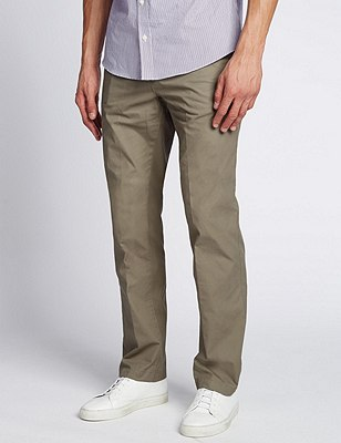 Cotton Rich Super Lightweight Chinos, SAGE, catlanding