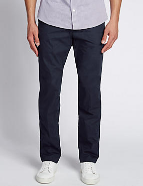 Cotton Rich Super Lightweight Chinos, NAVY, catlanding