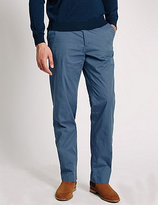 Cotton Rich Super Lightweight Chinos, TEAL, catlanding