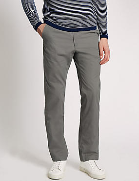 Super Lightweight Regular Fit Chinos, GREY, catlanding
