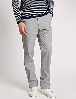 Cotton Rich Super Lightweight Chinos, WHITE MIX, catlanding