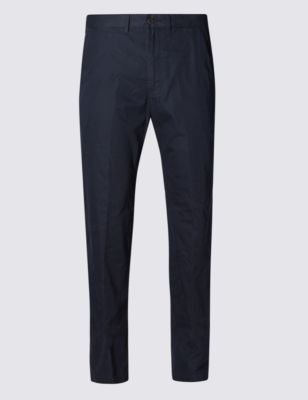 Хлопковые суперлёгкие брюки чинос M&S Collection T176140X