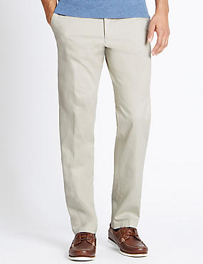 Cotton Rich Stretch Chinos with Buttonsafe™, STONE, catlanding