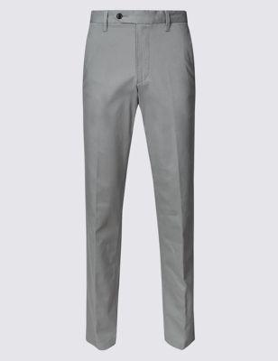 Хлопковые зауженные брюки чинос с технологией Buttonsafe™ и добавлением эластана