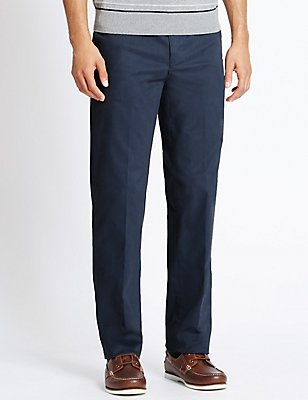 Cotton Rich Climate Control Chinos, AIR FORCE BLUE, catlanding