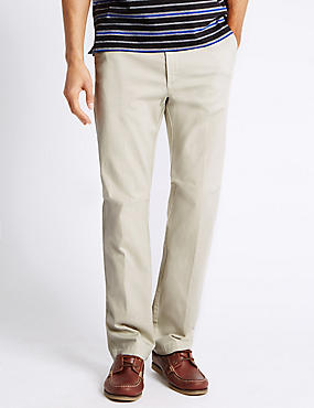 Regular Fit Chinos with Stretch, STONE, catlanding