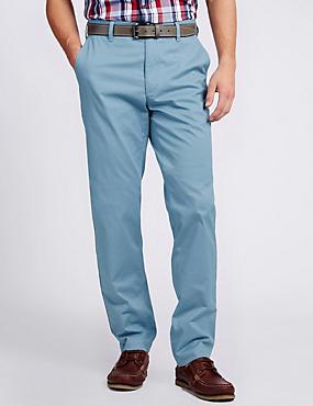 Premium Lightweight Tailored Fit Chinos, FRESH BLUE, catlanding