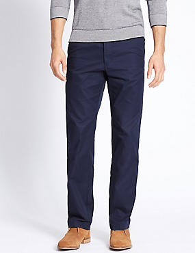 Big & Tall Regular Fit Chinos, NAVY, catlanding