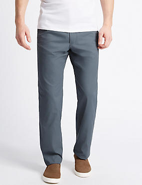 Big & Tall Regular Fit Chinos, FADED BLUE, catlanding