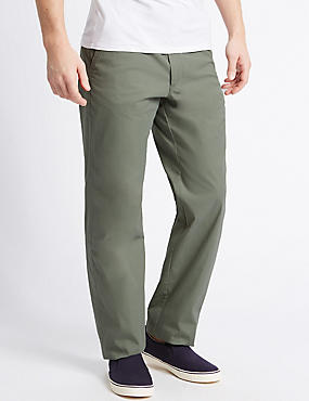 Regular Fit Super Lightweight Chinos, SAGE, catlanding