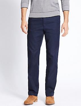 Regular Fit Super Lightweight Chinos, NAVY, catlanding