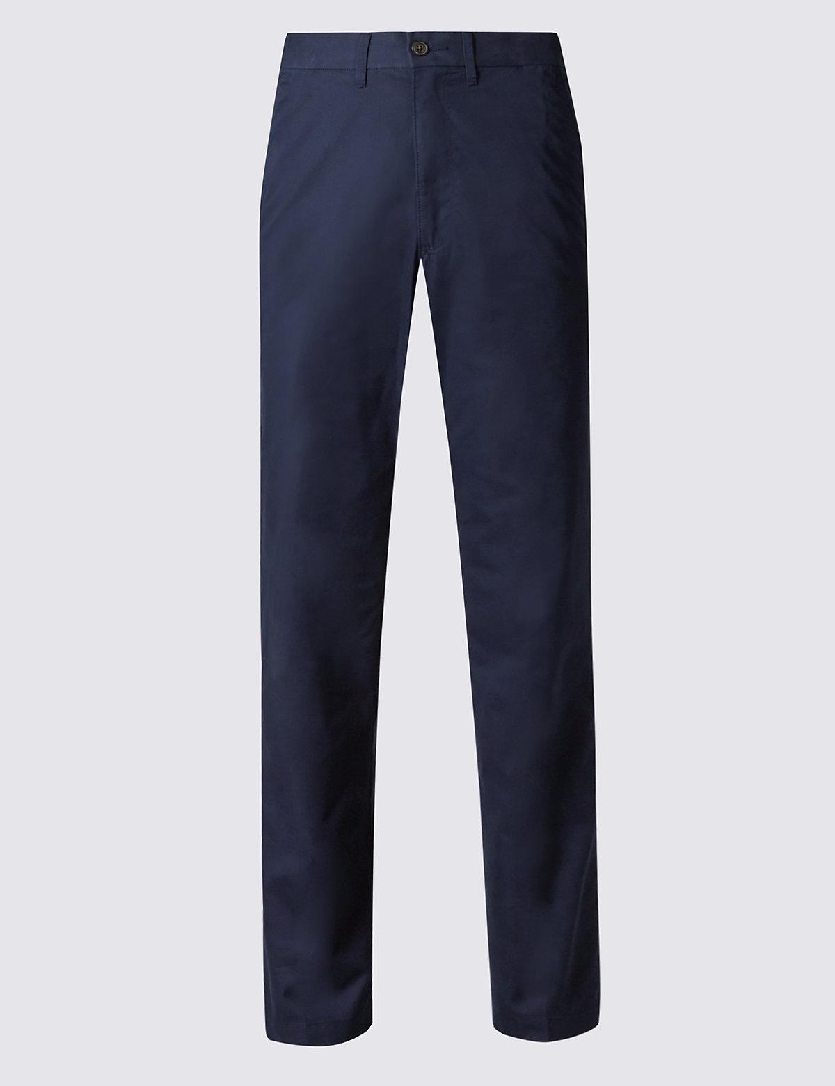 Классические брюки чинос Super Lightweight M&S Collection. Цвет: темно-синий