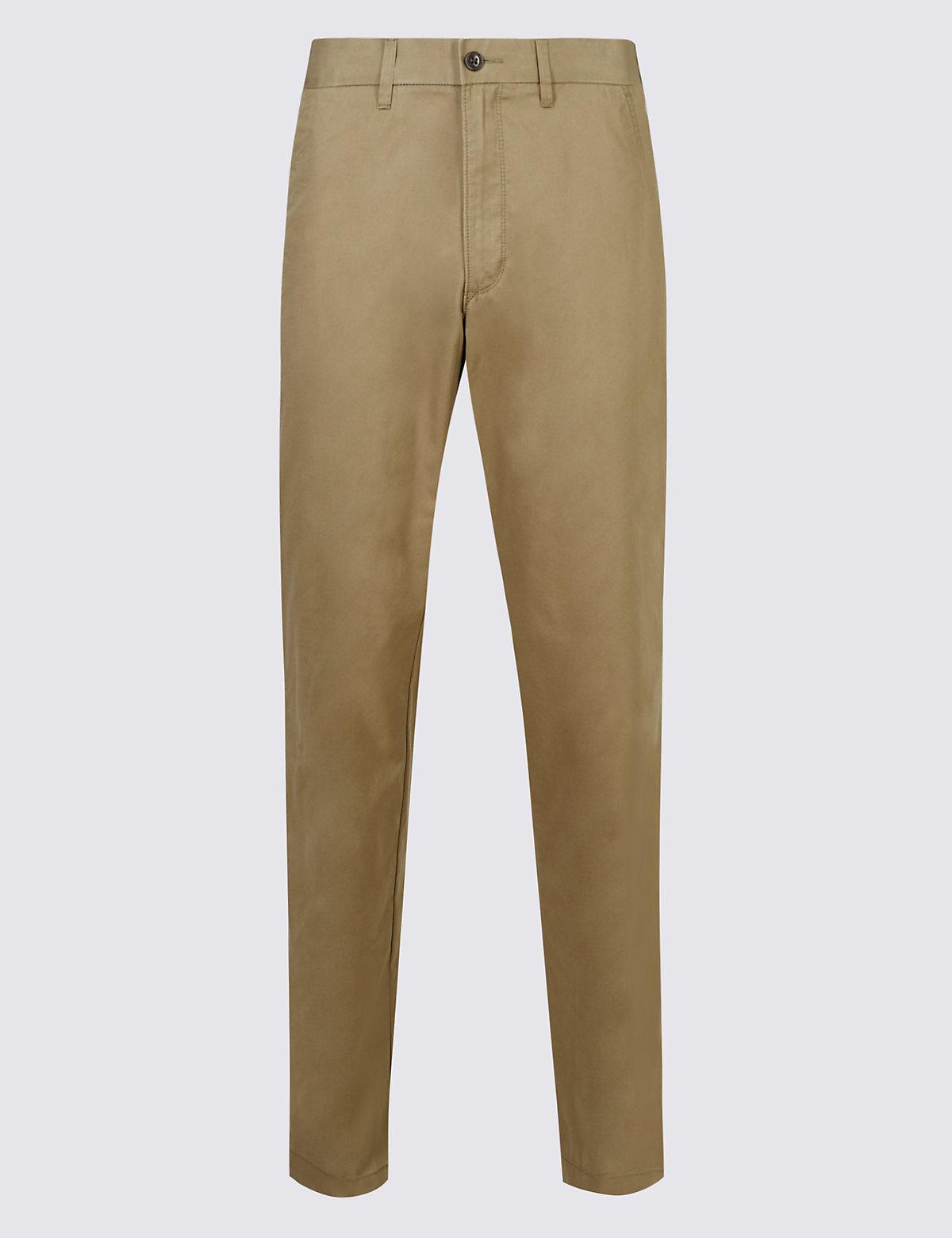 Классические брюки чинос Super Lightweight M&S Collection. Цвет: темный серый