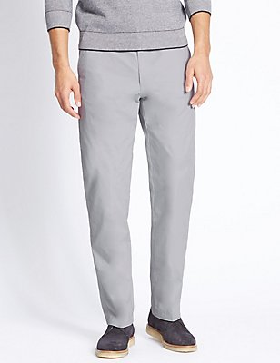 Regular Fit Cotton Rich Chinos, LIGHT GREY, catlanding
