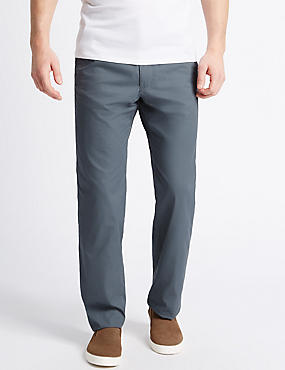 Regular Fit Super Lightweight Chinos, FADED BLUE, catlanding