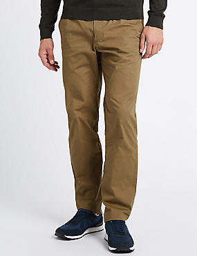 Cotton Rich Slim Fit Chinos, TAUPE, catlanding