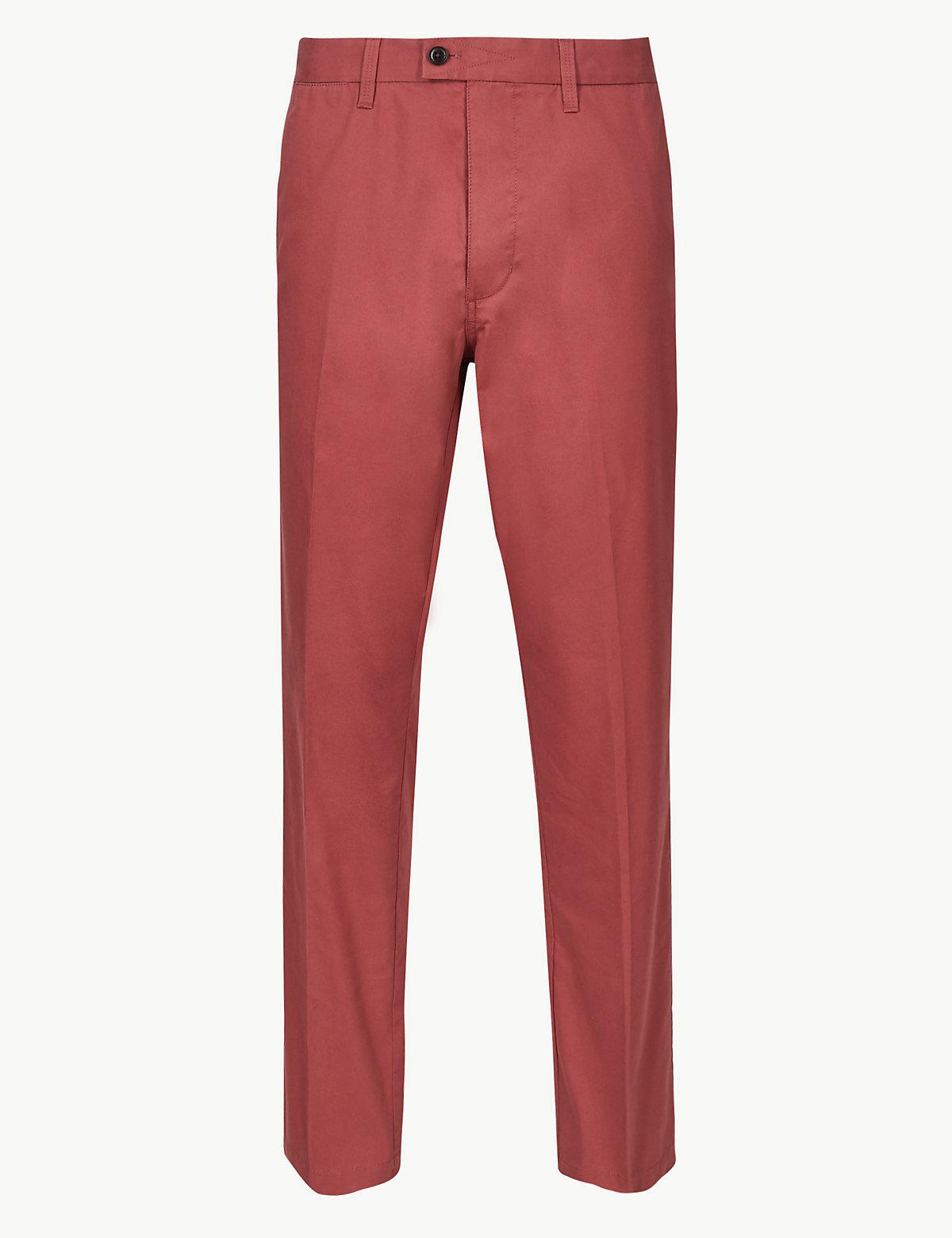 Мужские брюки чинос классического кроя Blue Harbour. Цвет: темный розовый