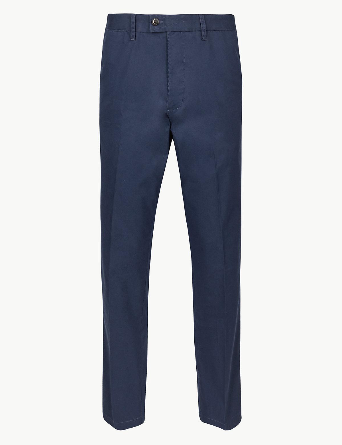 Мужские брюки чинос классического кроя Blue Harbour. Цвет: кобальтовый