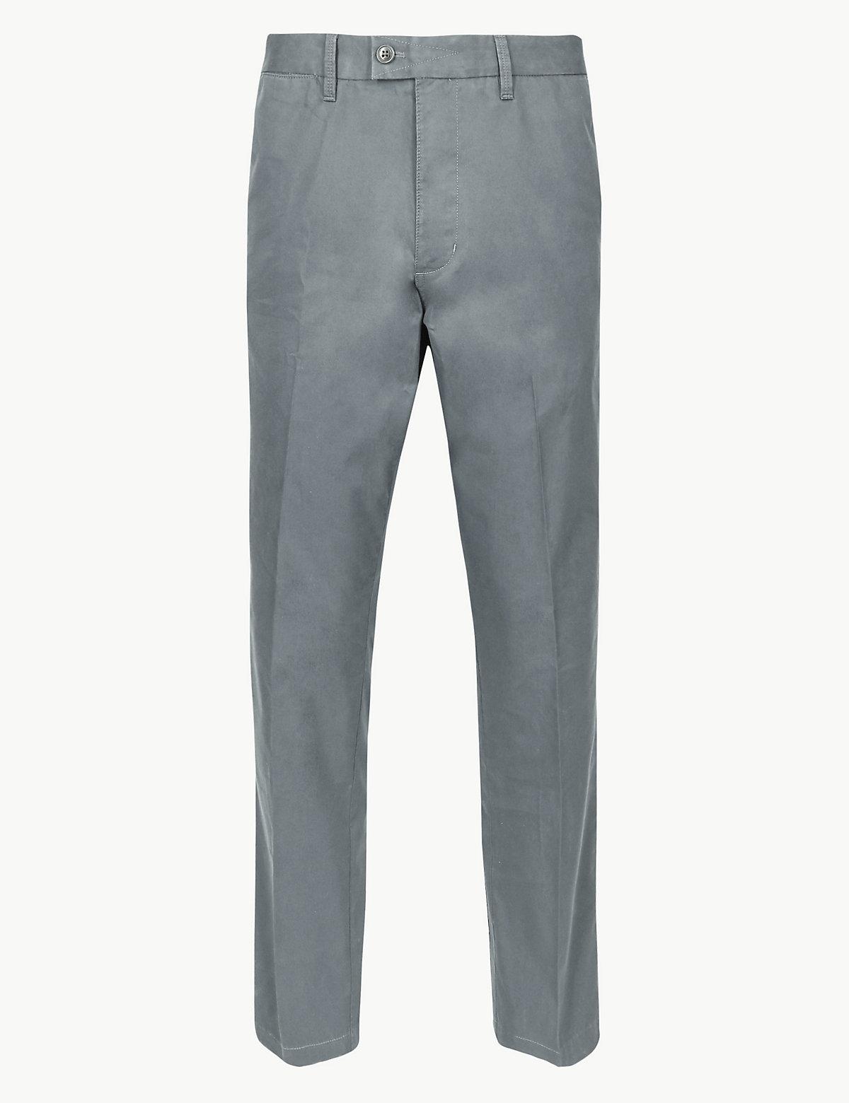 Мужские брюки чинос классического кроя Blue Harbour. Цвет: светлый синий