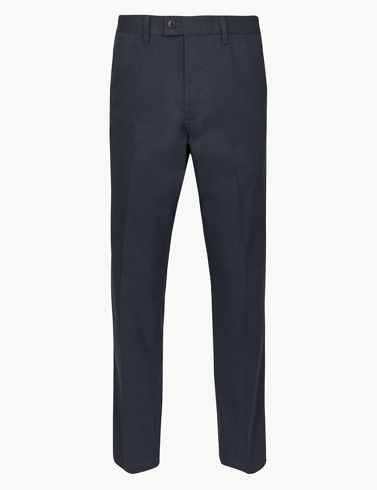 Мужские брюки чинос классического кроя Blue Harbour. Цвет: темно-синий